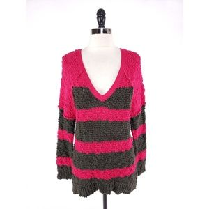 Free People Chunky Knit Striped Sweater